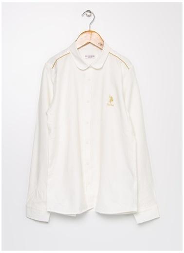 U.S. Polo Assn. U.S. Polo Assn. Beyaz Kız Çocuk Gömlek Beyaz